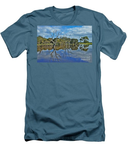 Men's T-Shirt (Slim Fit) featuring the photograph Glass Lake by Stephen Mitchell