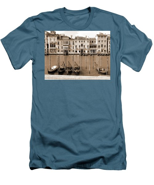 Men's T-Shirt (Athletic Fit) featuring the photograph Gondolas Outside Salute by Donna Corless