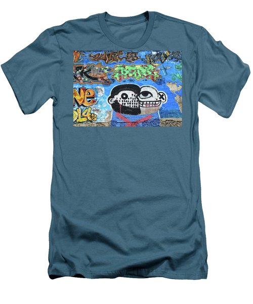 Men's T-Shirt (Slim Fit) featuring the photograph Graffiti Provence France by Dave Mills
