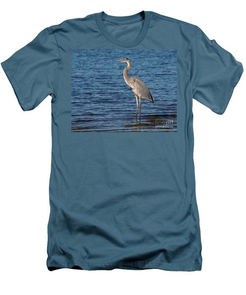 Men's T-Shirt (Slim Fit) featuring the photograph Great Blue Heron by Art Whitton