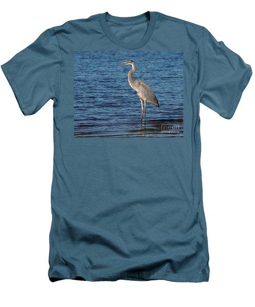 Great Blue Heron Men's T-Shirt (Slim Fit) by Art Whitton