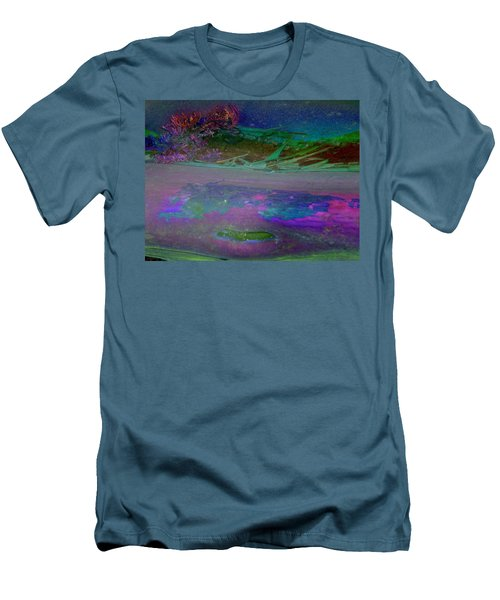 Men's T-Shirt (Slim Fit) featuring the digital art Grow by Richard Laeton