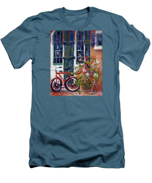 Habersham Bike Shop Men's T-Shirt (Slim Fit) by Gertrude Palmer