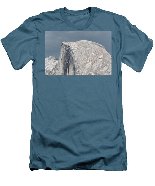 Half Dome From Glacier Point At Yosemite Np Men's T-Shirt (Slim Fit) by Michael Bessler