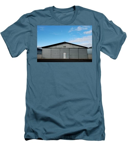 Men's T-Shirt (Slim Fit) featuring the photograph Hangar 2 The Building by Kathleen Grace