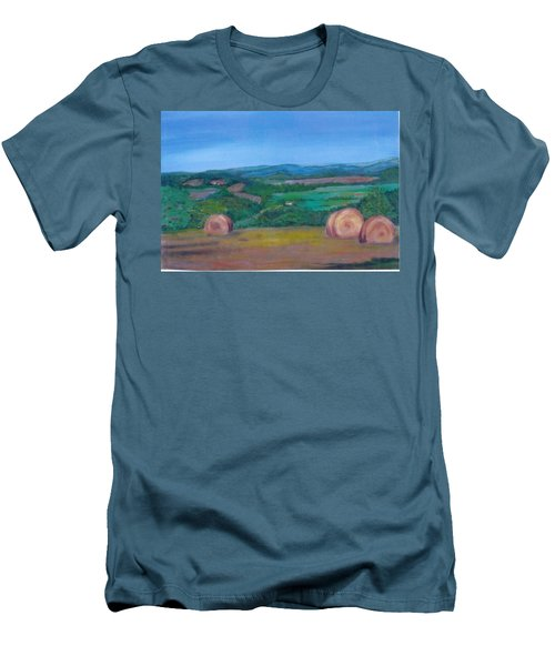 Hay Bales Men's T-Shirt (Athletic Fit)