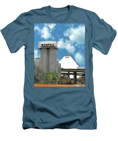 Men's T-Shirt (Slim Fit) featuring the photograph Hello Memphis by Lizi Beard-Ward