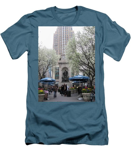 Men's T-Shirt (Slim Fit) featuring the photograph Herald Square by Dora Sofia Caputo Photographic Art and Design