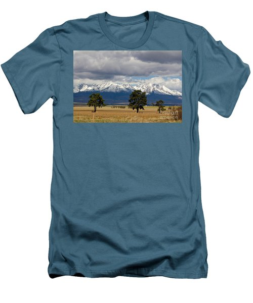 Men's T-Shirt (Slim Fit) featuring the photograph High Tatras - Vysoke Tatry by Les Palenik