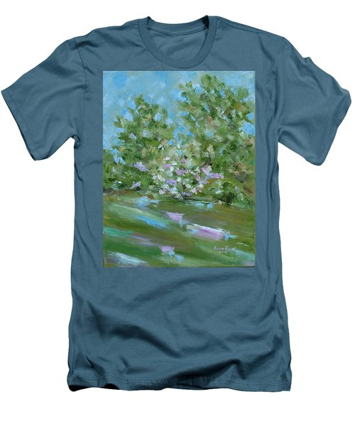 Hilltop Men's T-Shirt (Slim Fit) by Judith Rhue