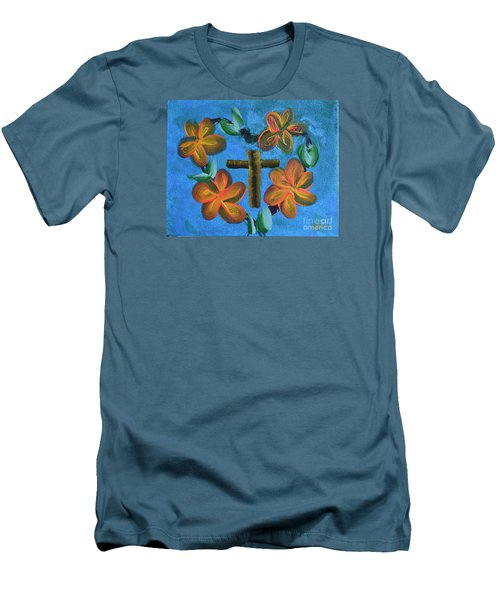 Men's T-Shirt (Slim Fit) featuring the painting His Love For Us by Donna Brown
