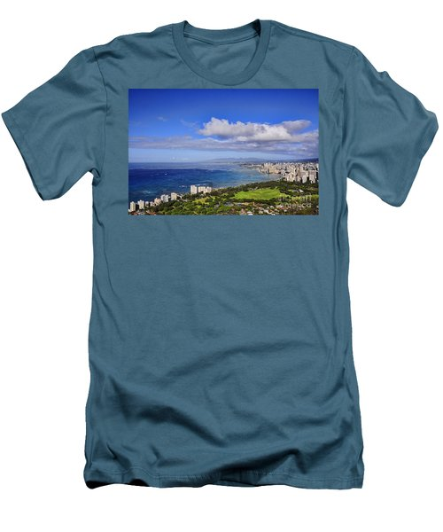 Honolulu From Diamond Head Men's T-Shirt (Athletic Fit)