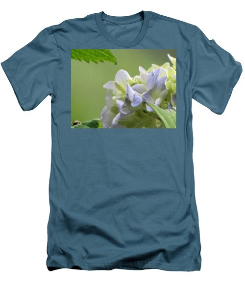 Men's T-Shirt (Slim Fit) featuring the photograph Hydrangea Blossom by Katie Wing Vigil