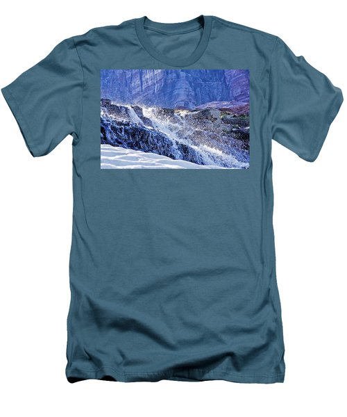 Icy Cascade Men's T-Shirt (Slim Fit) by Albert Seger