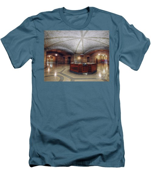 Men's T-Shirt (Slim Fit) featuring the photograph Info Desk by Art Whitton