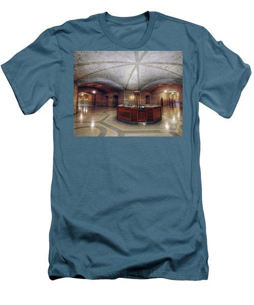 Info Desk Men's T-Shirt (Slim Fit) by Art Whitton