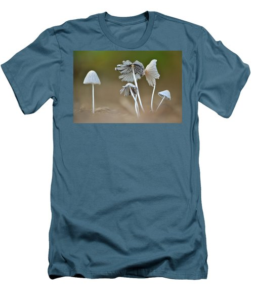Men's T-Shirt (Slim Fit) featuring the photograph Ink-cap Mushrooms by JD Grimes