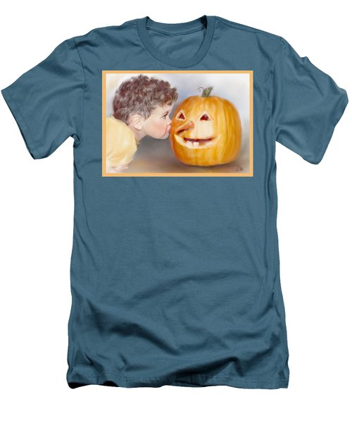 Men's T-Shirt (Slim Fit) featuring the painting Kissy Face by Bonnie Willis