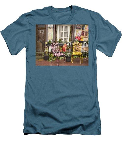 Men's T-Shirt (Slim Fit) featuring the photograph La Roche Guyon by Hugh Smith