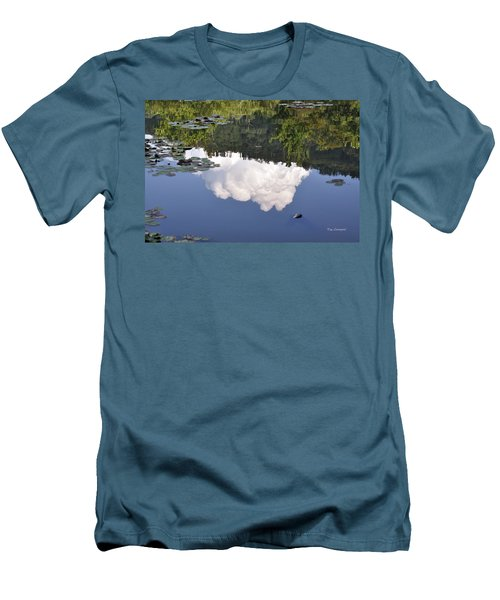 Men's T-Shirt (Slim Fit) featuring the photograph Lake Reflection by Kay Lovingood