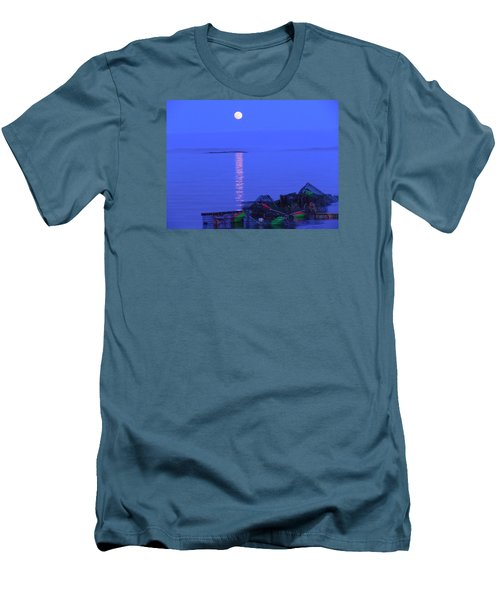 Lobstering Moon Men's T-Shirt (Athletic Fit)