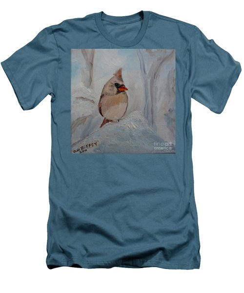 Men's T-Shirt (Slim Fit) featuring the painting Mama's On Her Way Home by Julie Brugh Riffey