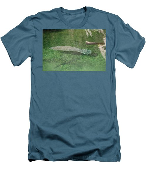 Manatee Men's T-Shirt (Slim Fit) by Randy J Heath