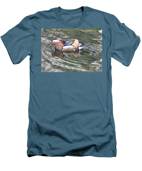 Men's T-Shirt (Slim Fit) featuring the photograph Mandarin Duck  by Lydia Holly