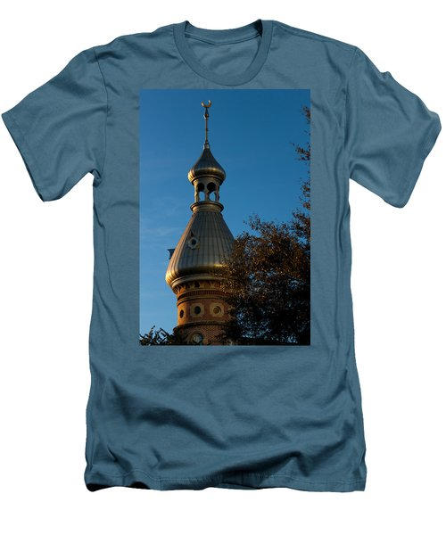 Men's T-Shirt (Slim Fit) featuring the photograph Minaret And Trees by Ed Gleichman