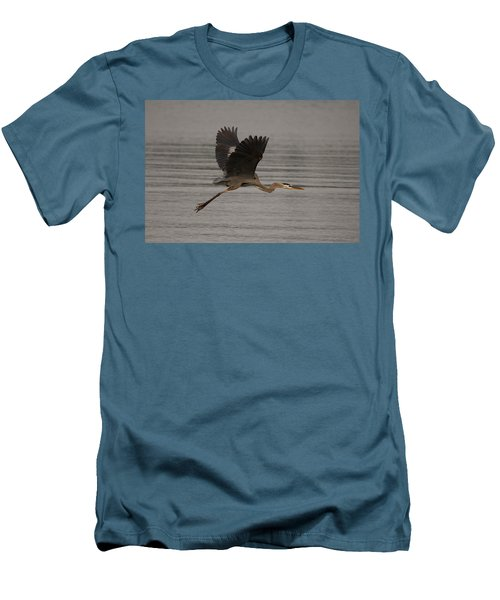 Men's T-Shirt (Slim Fit) featuring the photograph Morning Flight by Eunice Gibb
