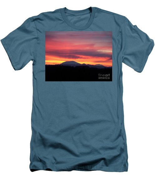 Men's T-Shirt (Slim Fit) featuring the photograph Morning Glow by Chalet Roome-Rigdon