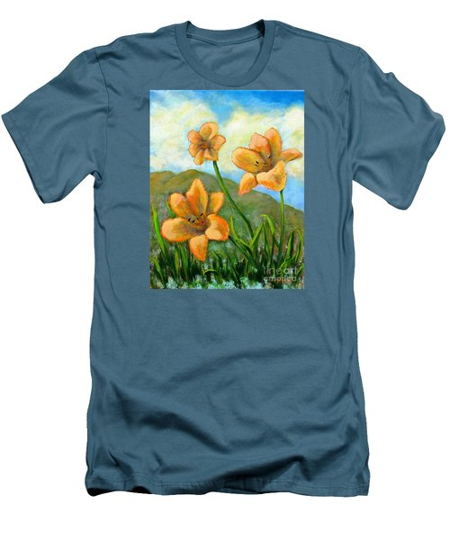 Morning Glow Men's T-Shirt (Slim Fit) by Laurie Morgan