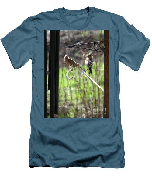 Morning Visitors Men's T-Shirt (Slim Fit) by Rory Sagner