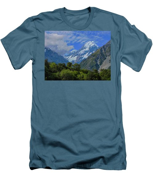 Men's T-Shirt (Slim Fit) featuring the photograph Mount Cook by David Gleeson