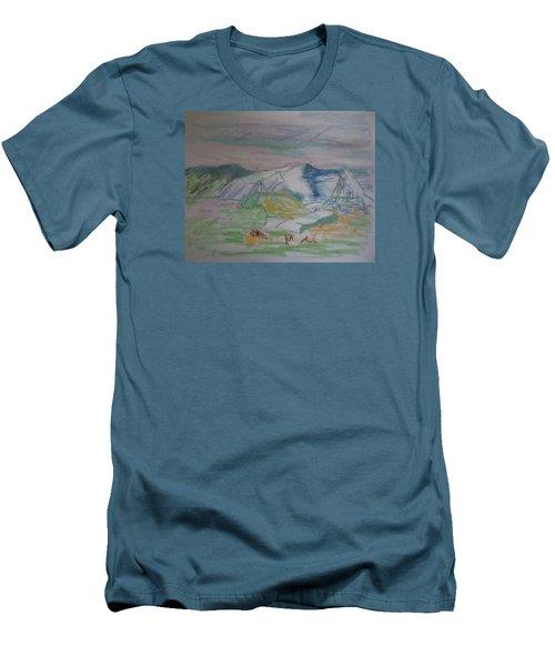Mount Desert Back Side Men's T-Shirt (Slim Fit) by Francine Frank