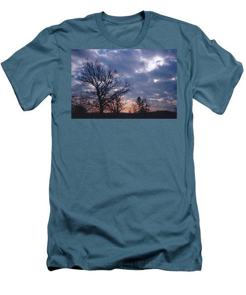Oak In Sunset Men's T-Shirt (Athletic Fit)