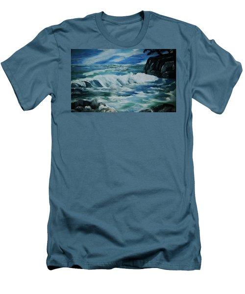 Ocean Waves Men's T-Shirt (Slim Fit) by Christy Saunders Church