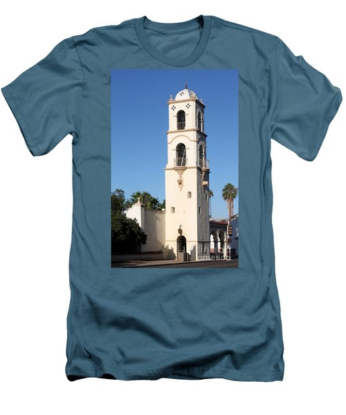 Men's T-Shirt (Slim Fit) featuring the photograph Ojai Post Office Tower by Henrik Lehnerer