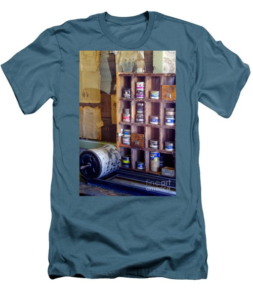 Men's T-Shirt (Slim Fit) featuring the photograph Old West 6 by Deniece Platt