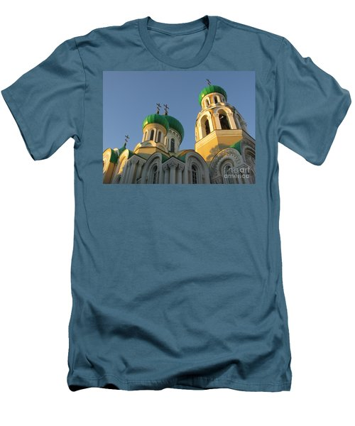 Orthodox Church Of Sts Michael And Constantine- Vilnius Lithuania Men's T-Shirt (Slim Fit) by Ausra Huntington nee Paulauskaite
