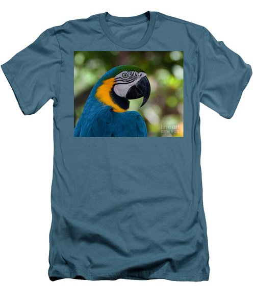 Parrot Head Men's T-Shirt (Slim Fit) by Art Whitton
