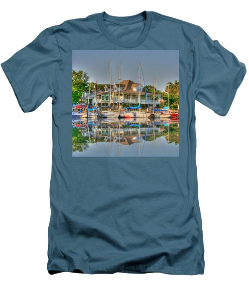 Pascagoula Boat Harbor Men's T-Shirt (Athletic Fit)