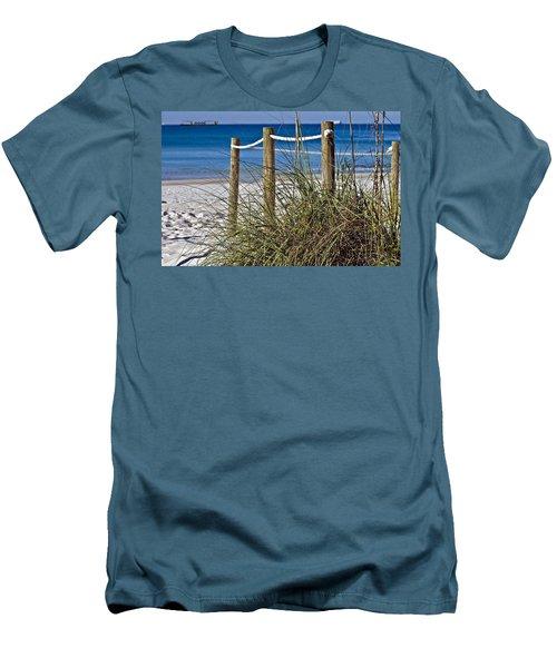 Men's T-Shirt (Slim Fit) featuring the photograph Path To The Beach by Susan Leggett
