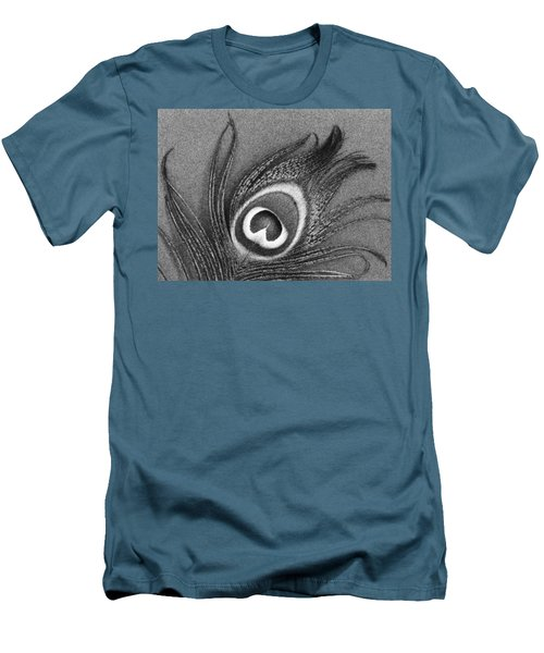 Peacock Feather Men's T-Shirt (Slim Fit) by Mark Greenberg