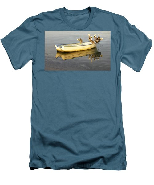 Pelican Express Men's T-Shirt (Slim Fit) by Anne Mott