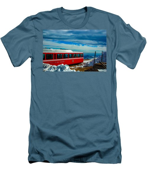 Men's T-Shirt (Slim Fit) featuring the photograph Pikes Peak Railway by Shannon Harrington