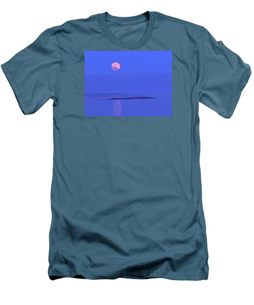 Pink May Moon Men's T-Shirt (Slim Fit) by Francine Frank