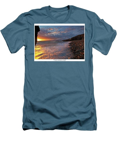 Men's T-Shirt (Slim Fit) featuring the photograph Porth Swtan Cove by Beverly Cash