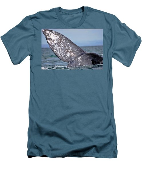 Men's T-Shirt (Slim Fit) featuring the photograph Powerful Fluke by Don Schwartz