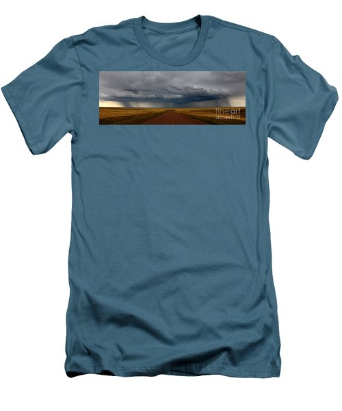 Prairie Storm In Canada Men's T-Shirt (Slim Fit) by Vivian Christopher